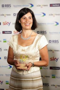 Lucy Findlay, Managing Director of the Social Enterprise Mark awarded Sustainability Champion
