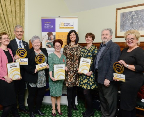 Social Enterprise Gold Mark awardees with Hazel Blears MP and Lucy Findlay_sm