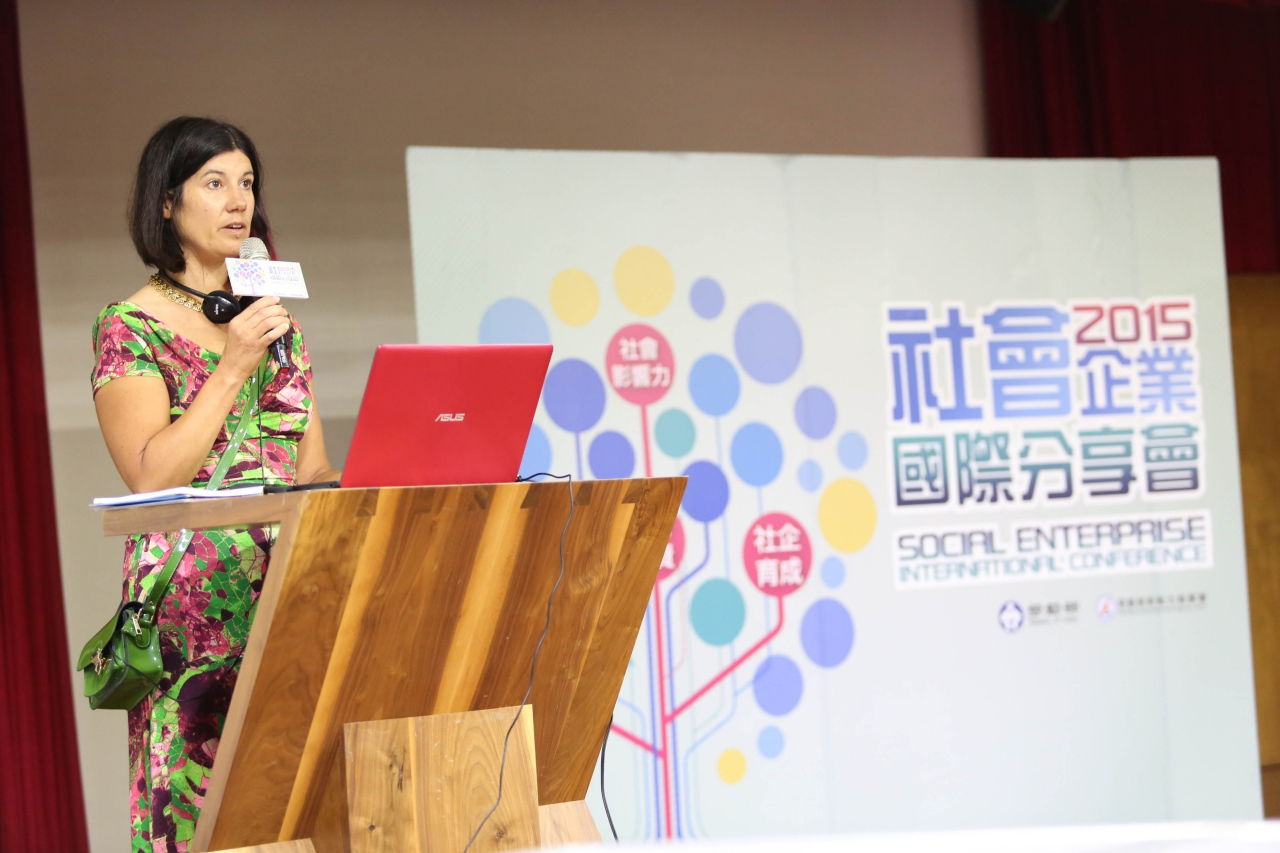 Lucy Findlay speaking at International Social Enterprise Conference Taiwan
