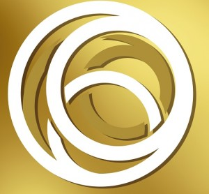 Gold Mark logo swirls