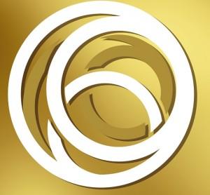 Gold Mark logo swirls