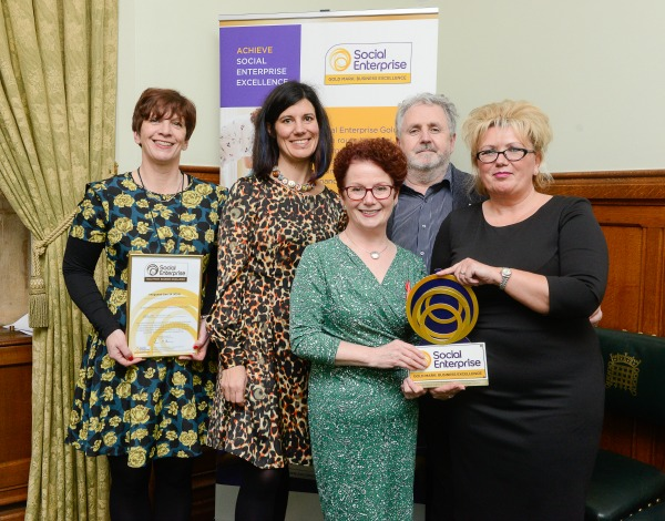 IC24 being awarded the Social Enterprise Gold Mark