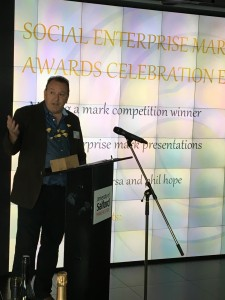 Mark Sharman accepting award