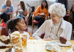 intergenerational friendship between older care home residents and nursery children