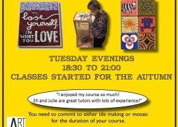Art4Space mosaic class