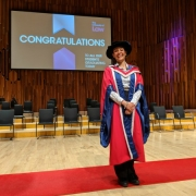 Rachel Wang receives honorary doctorate