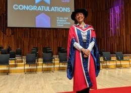 Rachel Wang receives honorary doctorate