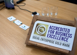 Social Enterprise Gold Mark plaque