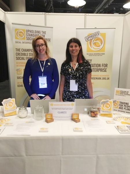 Rachel Fell and Lucy Findlay of Social Enterprise Mark CIC at SEWF 2018
