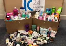 Sanitary items donation