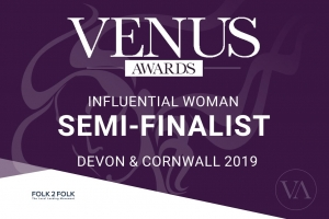 Venus Devon & Cornwall Awards semi-finalist badge
