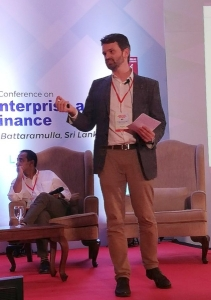 Erinch Sahan speaking at International Social Enterprise Conference in Sri Lanka