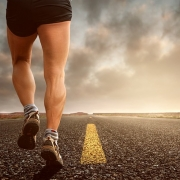 Runner on road