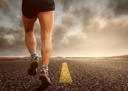Runner on road