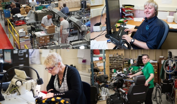 Photo montage of employees with disabilities