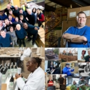 Photo montage of disabled employees