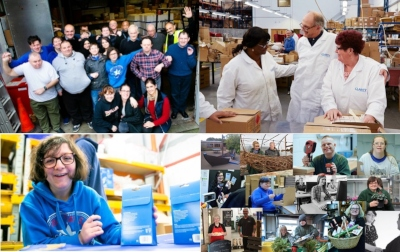 Disabled employees photo montage