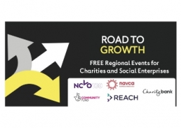 Charity Bank Road to Growth events banner
