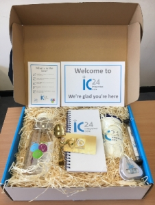 Contents of IC24 welcome box