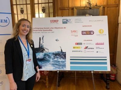 Rachel Fell at UIMP social enterprise conference_Santander July 2019