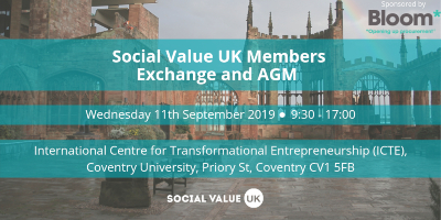 Social Value UK members exchange event banner