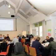 Delegates at a training workshop