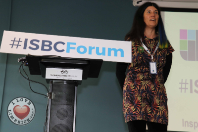 Lucy Findlay speaking at IBSC Forum