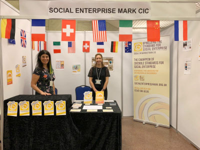 Lucy Findlay and Rachel Fell at the Social Enterprise World Forum 2019