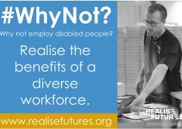 Realise Futures #WhyNot campaign poster