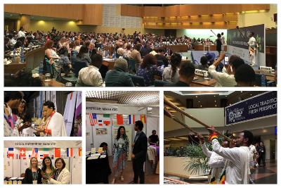 Collage of photos from the Social Enterprise World Forum 2019