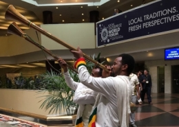 Performers at the Social Enterprise World Forum 2019 opening ceremony in Addis Ababa