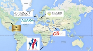 Map showing International Social Enterprise Mark holders