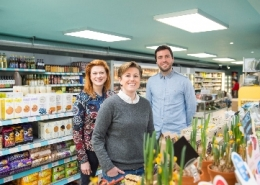 The team at HISBE supermarket