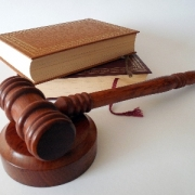 Books and a gavel and hammer