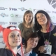 Lucy Findlay with Irina Makeeva, Yulia and Anna (Green Squirrel) at Social Enterprise festival in Novosibirsk