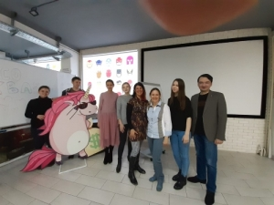 Lucy Findlay at Novosibirsk's Technical University Innovation/Incubation Hub