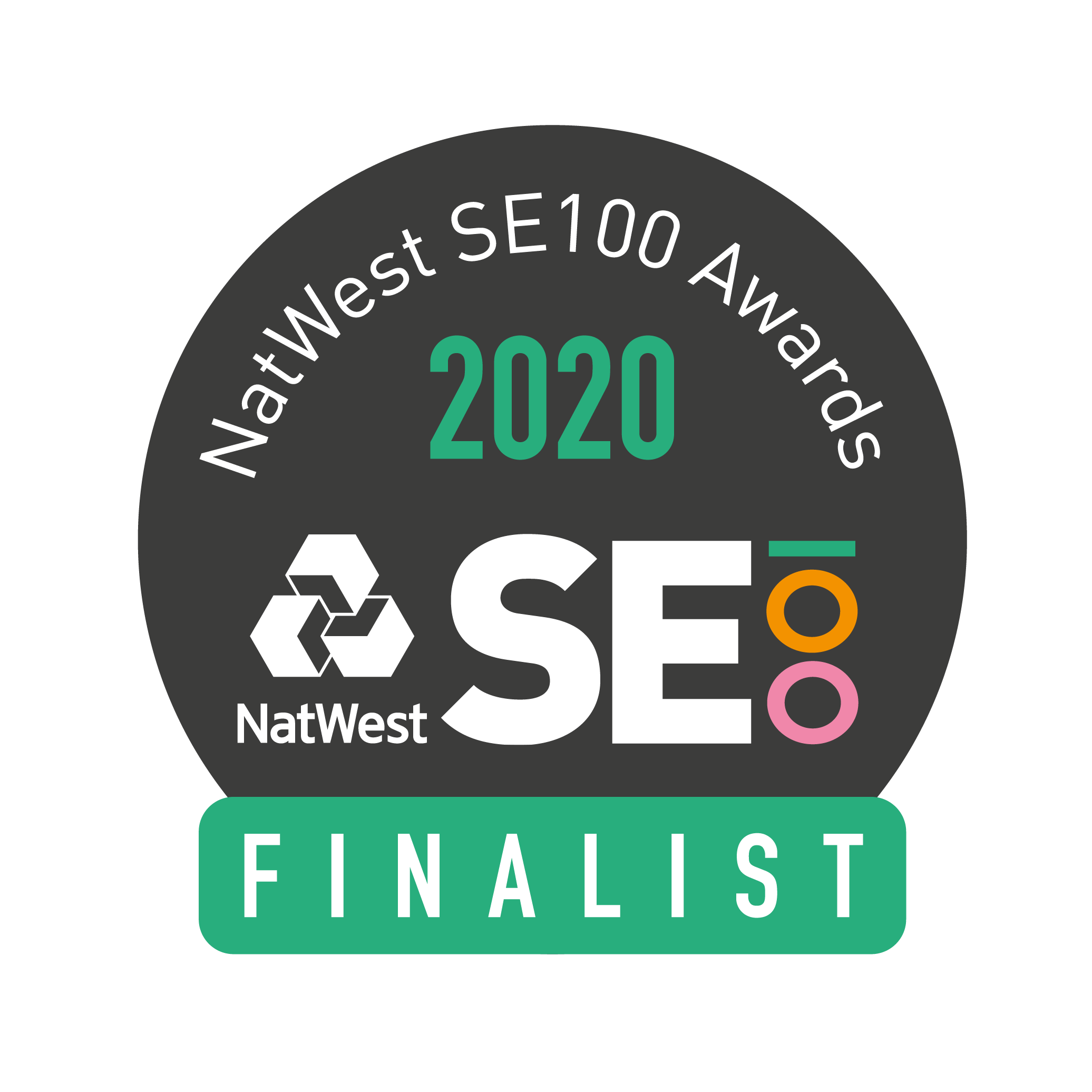 SE100 finalist badge