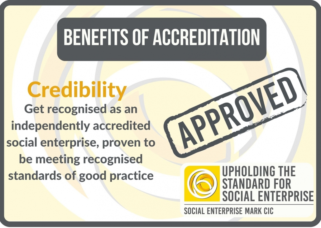 Benefits of accreditation: credibility