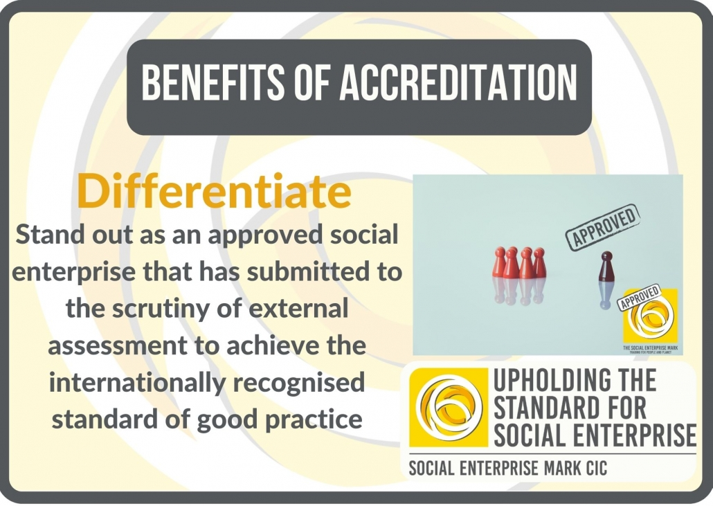 Benefits of accreditation: differentiation