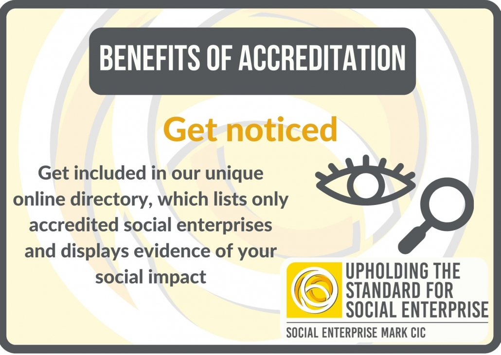 Benefits of accreditation: get noticed