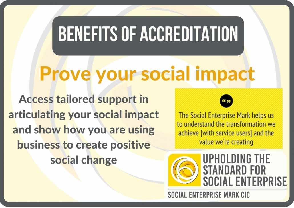 Benefits of accreditation: prove your social impact