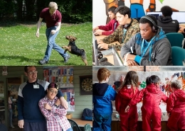 Photos of groups benefitting from Charity Bank loans