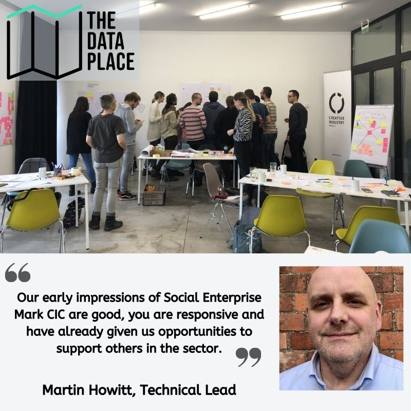 """Testimonial from Martin Howitt: """"Our early impressions of Social Enterprise Mark CIC are good, you are responsive and have already given us opportunities to support others in the sector."""""""