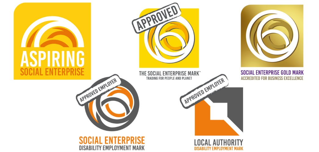 Social Enterprise Mark CIC accreditation badges