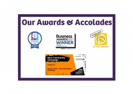 Forward Carers awards and accolades - collection of awards' badges