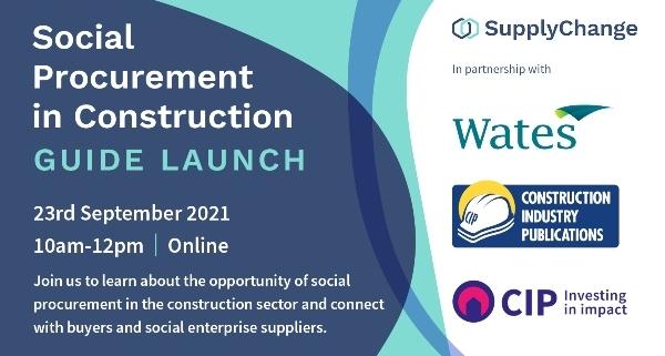 Social Procurement in Construction event banner